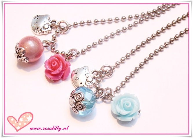 Hello Kitty kids ballchain necklaces. Romantic and cool.
