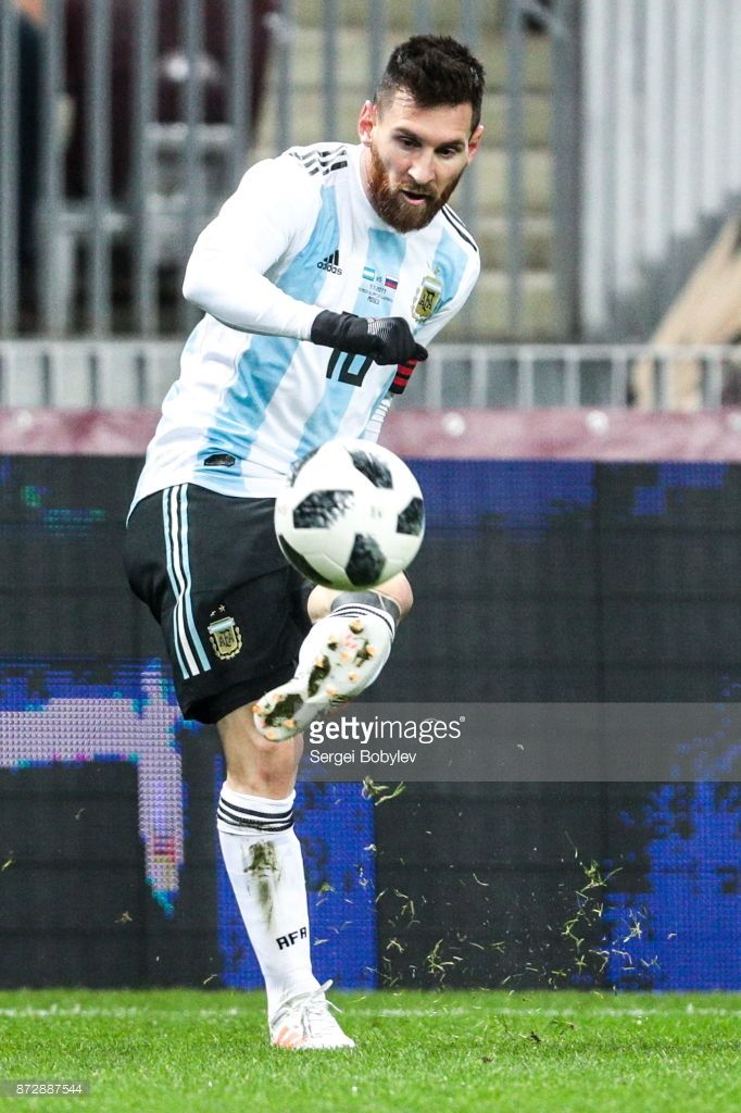 Argentina's Lionel Messi in their international...