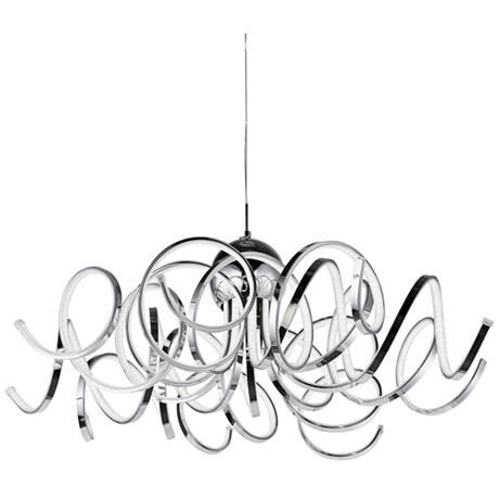 "ET2 Chaos 34"" Wide Polished Chrome LED Pendant Light"