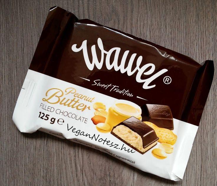 VeganNotesz.hu - vegán receptek, terméktesztek: Legolcsóbb és legfinomabb gluténmentes vegán csoki: Wawel Peanut Butter - mogyoróvaj töltelékes