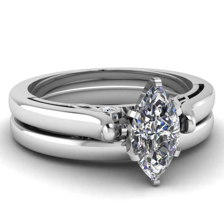 Marquise Shaped Wedding Sets Engagement Rings