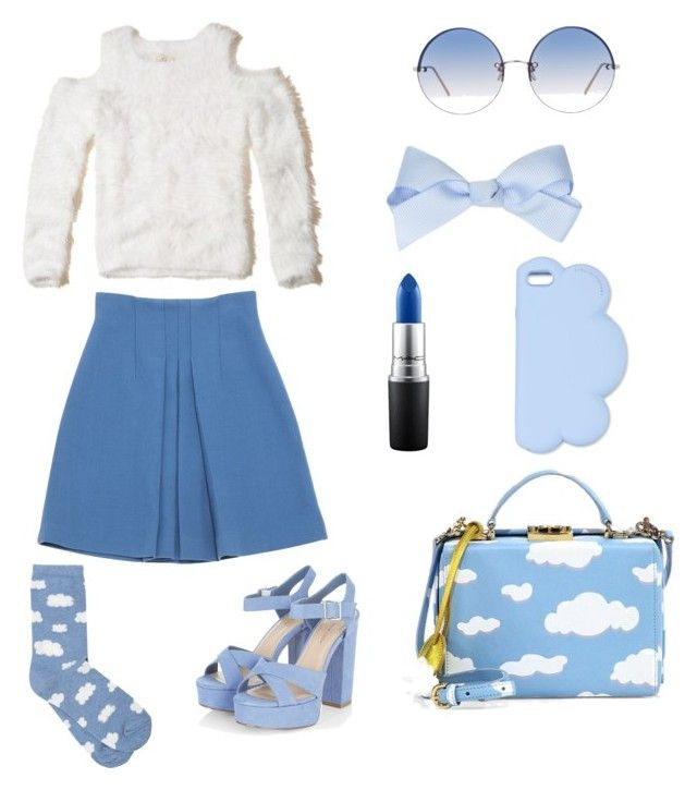 """Up to the clouds"" by emka-kruta on Polyvore featuring Hollister Co., Miu Miu, M&Co, Mark Cross, STELLA McCARTNEY, MAC Cosmetics and Linda Farrow"