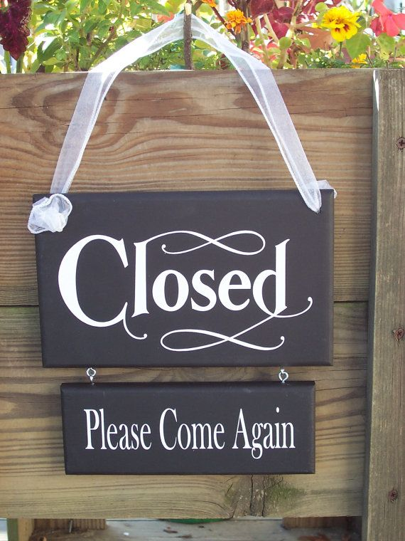 Whimsical Shabby Retail Shop Store Open Closed by heartfeltgiver, $29.95
