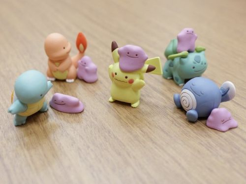 """retrogamingblog: """"The Pokemon Center just released a line of Ditto Gachapon Figures """""""