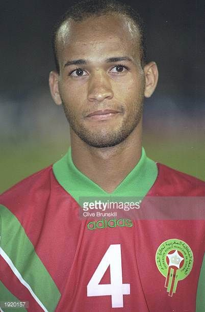 Portrait of Abdellatif Trindou of Morocco before the World Cup qualifying match against Gabon at the Complexe Sportif Mohamme in Casablanca Morocco...