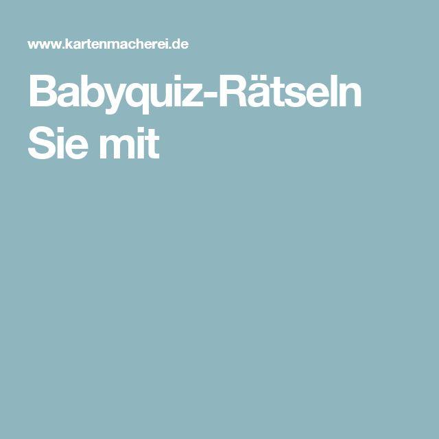 Babyquiz-Rätseln Sie mit