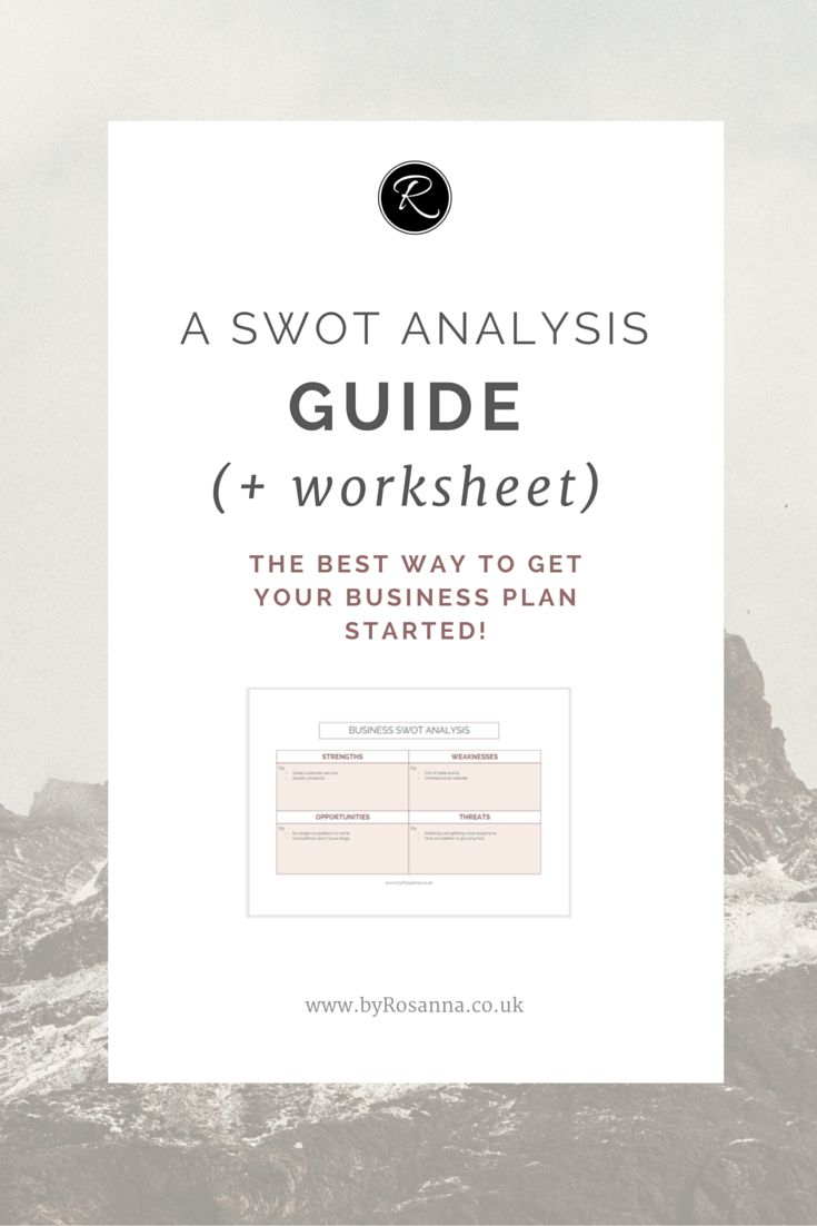 A SWOT Analysis Guide - the best way to get started on your business plan!