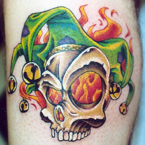 Jester Tattoo Images Wonderful Jester Skull Tattoo