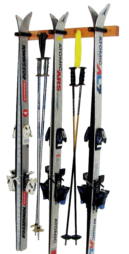 Three Ski Wood Storage Rack Skirack Skistorage