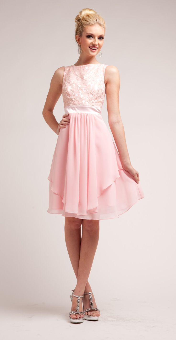 Knee Length Blush Pink Prom Dresses – fashion dresses