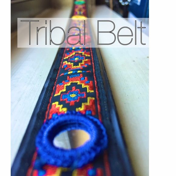 Colorful Southwestern Mirrored Belt Exotic colorful belt! 34 in long. Has little mirror embellishments. Fits a size small to med. Has 6 holes. Silver tone Buckle. Only used once. Purchased in Central America. Not UO. Urban Outfitters Accessories Belts