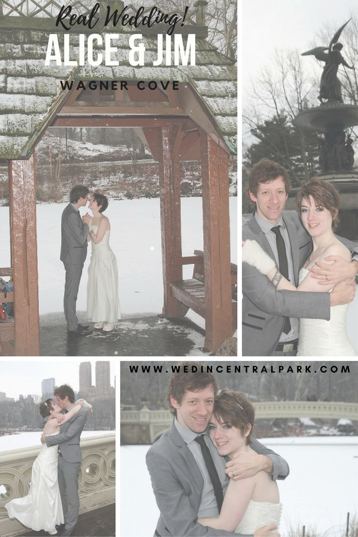 Real Central Park Wedding Alice and Jim - Wagner Cove Winter elopement