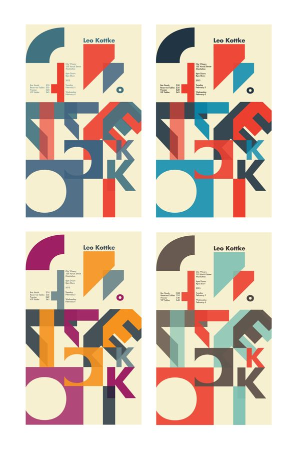 Type As Image Music Poster On Behance Geometric Posters