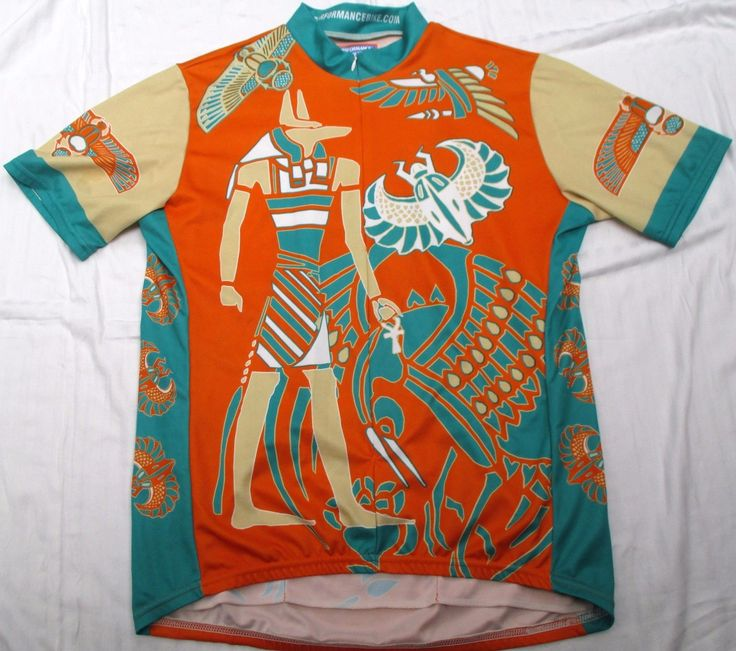 Performance Cycling Jersey Anubis Scarab Egyptian God Mens XL