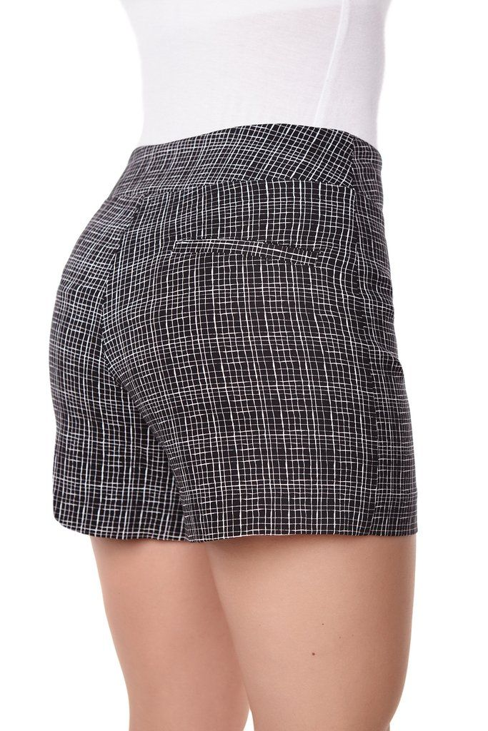 Dear Stitch Fix Stylist: Example of a Casual Shorts I would like to see in my summer fixes l Lily HIgh Wasited Grid Short by MargaretM Canada