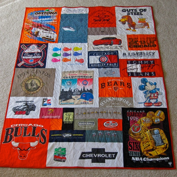 22 Best Images About Sewing Tshirt Quilts On Pinterest