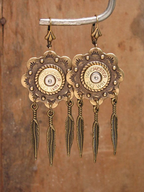 Bullet Casing Jewelry Southwest Style Bullet Casing by thekeyofa