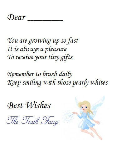 Notes From The Tooth Fairy To Kids