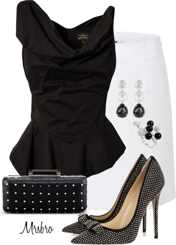 """Black and White"" by mrsbro on Polyvore"