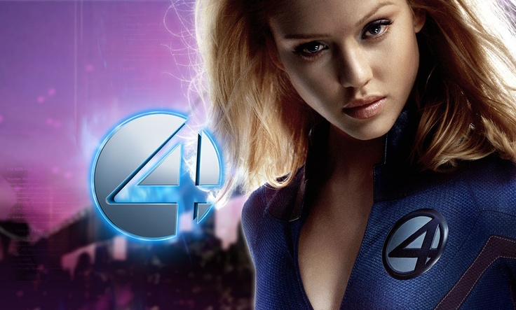 """Jessica Alba as The Invisible Woman/Sue Storm of """"The Fantastic Four"""" (Marvel Comics)."""