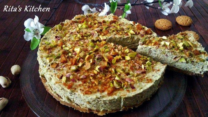 torta fredda al pistacchio