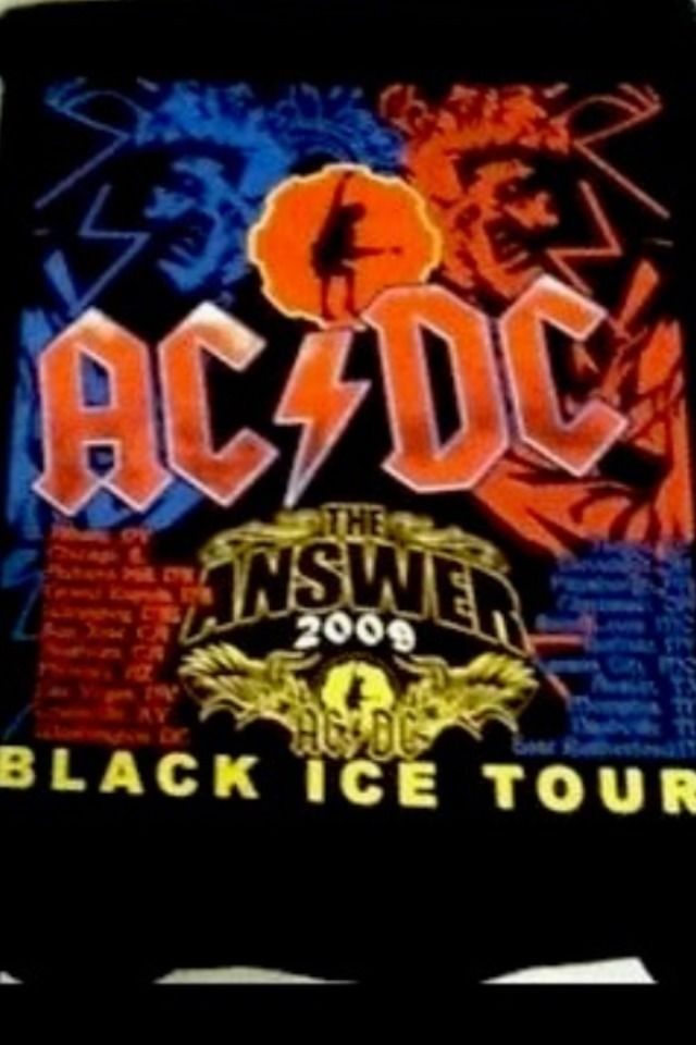 AC/DC 2009 Black Ice Concert Tour Shirt Lg . New Mint Conf.2 Sided  | eBay