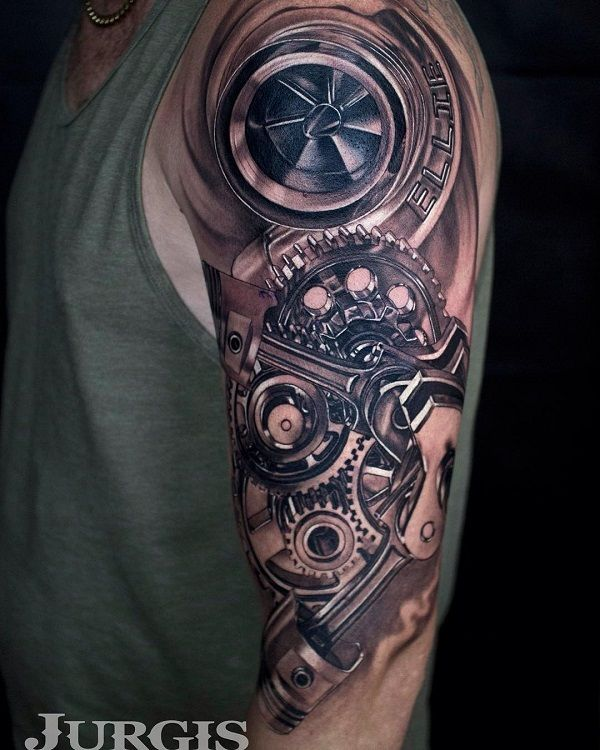 25 unique mechanic tattoo ideas on pinterest biomechanical tattoo design car tattoos and. Black Bedroom Furniture Sets. Home Design Ideas