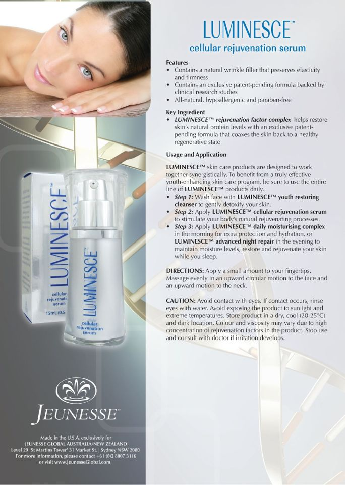 How to use Luminesce serum - www.ageless-worldwide.com