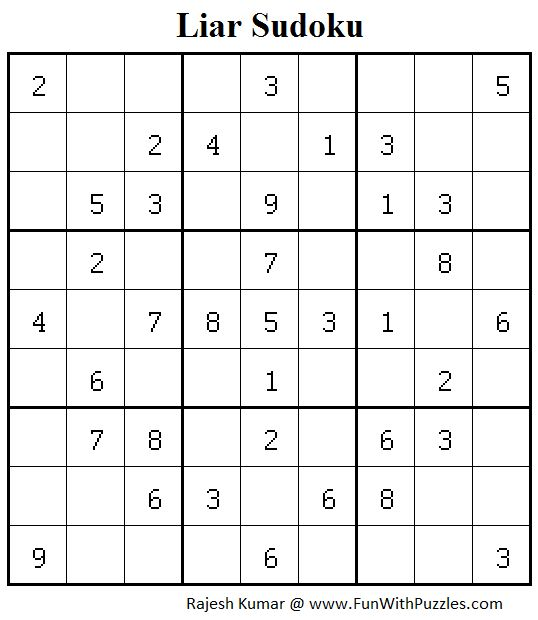 Liar Sudoku (Sudoku for Adults #175)