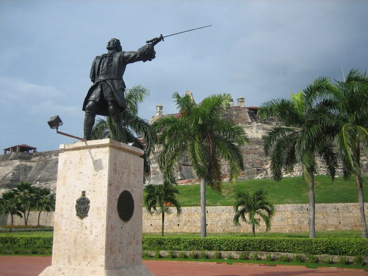 Fun Facts About Colombia (Pictured: Statue of Don Blas de Lezo, Cartagena, Colombia)