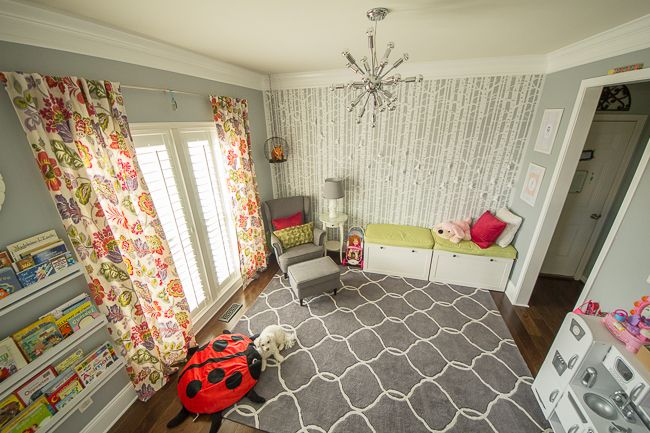 colorful modern children s playroom gray rug ikea