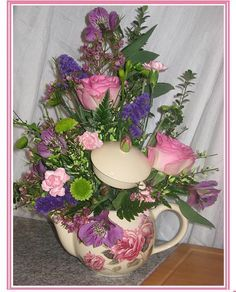 teapot flower arrangements