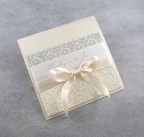 Wedding invitations, Lace