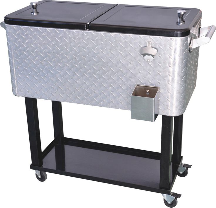 Aluminium Patio Deck Outdoor Bar Kitchen Cooler With Cart 80 Quart Capacity  From Jinhua Dongrun