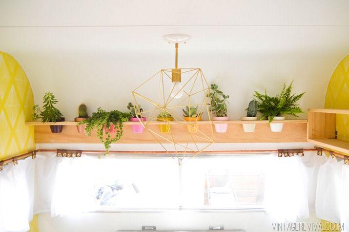 Original shelf for flowers with their hands