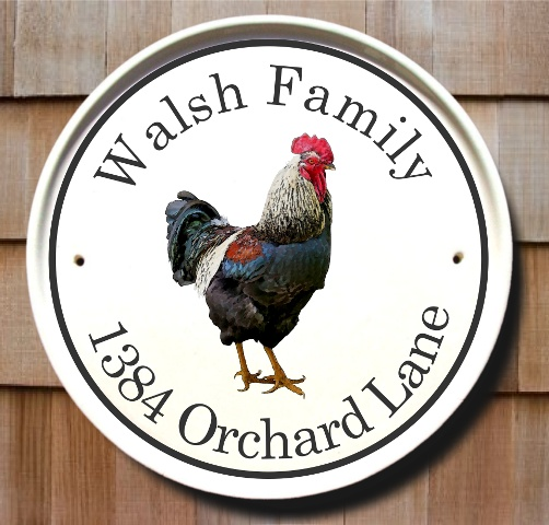 Classy Plaques Store - Country Rooster Cottage House Plaques, $119.95