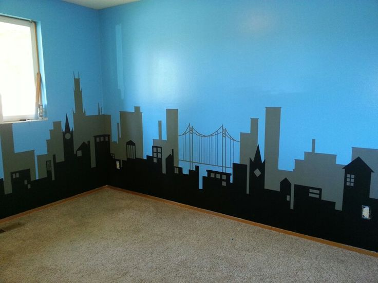 Luke S Superhero Cityscape Part 1 Superhero Room