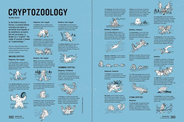 Cryptozoology Chart Via Unbored