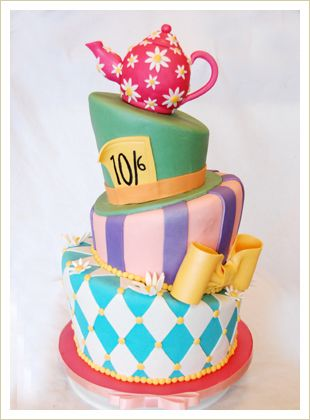 mad hatter tea party cakes | Custom cakes can be ordered with 1 week notice. Before making and ...