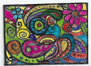 ACEO - A Trip to Fantastic Colorland #aceo #zibbet: Fantastic Colorland, Fantastic Colors, Zibbet Aceo, Colors Land, Zibbet Friends, Artists Living, Aceo Zibbet, Aceo Challenges, Colorland Aceo