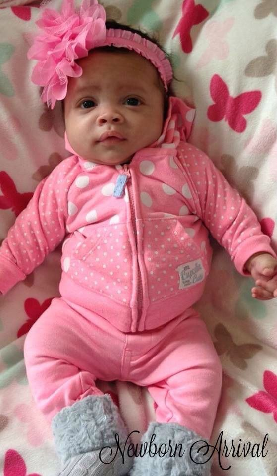Cute Mixed Newborn Baby Girl Pictures