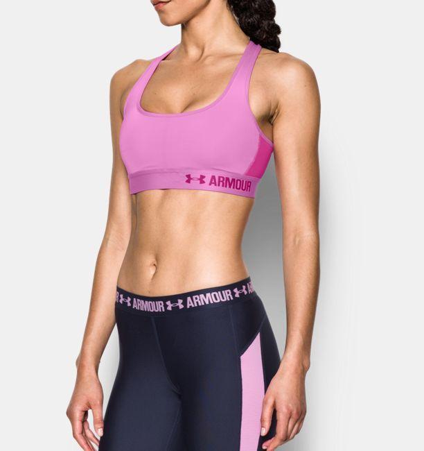 Women's Armour Crossback Mid, VERVE VIOLET | Shop @ FitnessApparelExpress.com
