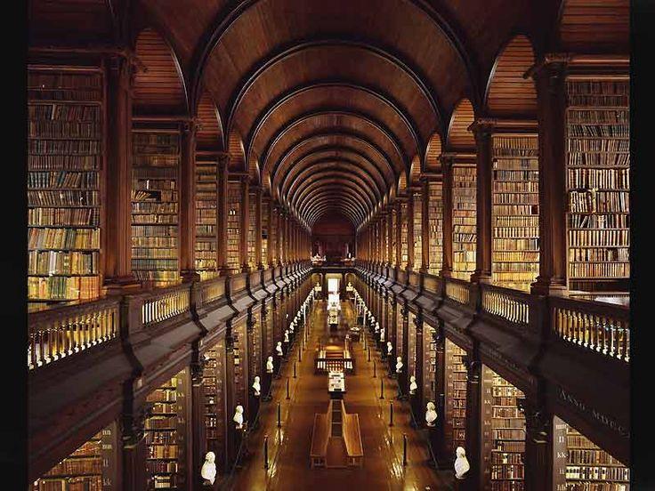 Bibliothèque du Trinity College de Dublin, Irlande (Horizontalidad)
