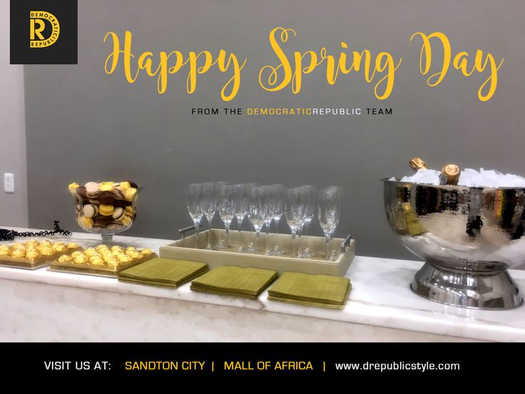 .......this is how we celebrate Spring Day! Why not come in and spoil yourself!