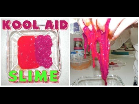 How to make Kool Aid Slime ! Non-Toxic Fun SLiME