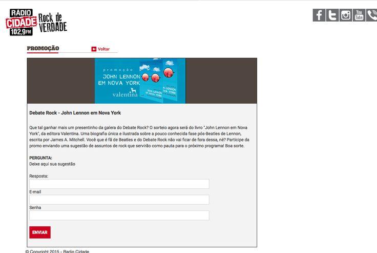 Radio Cidade Web Rock: Website promotion + social media + mentions in programmes