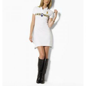 abiti polo ralph lauren donna black watch in bianco.Vestito bianco sport, selvaggio casuale. Estate essenziale. come contatto:annapolo888@gamil.com