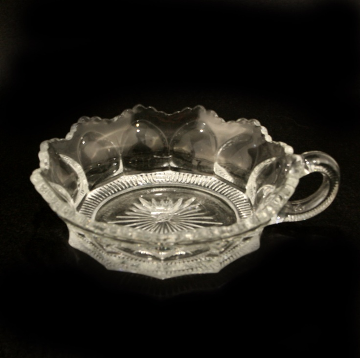 Heisey Peerless Handled Jelly Bowl Glass Dish Crystal Vtg.