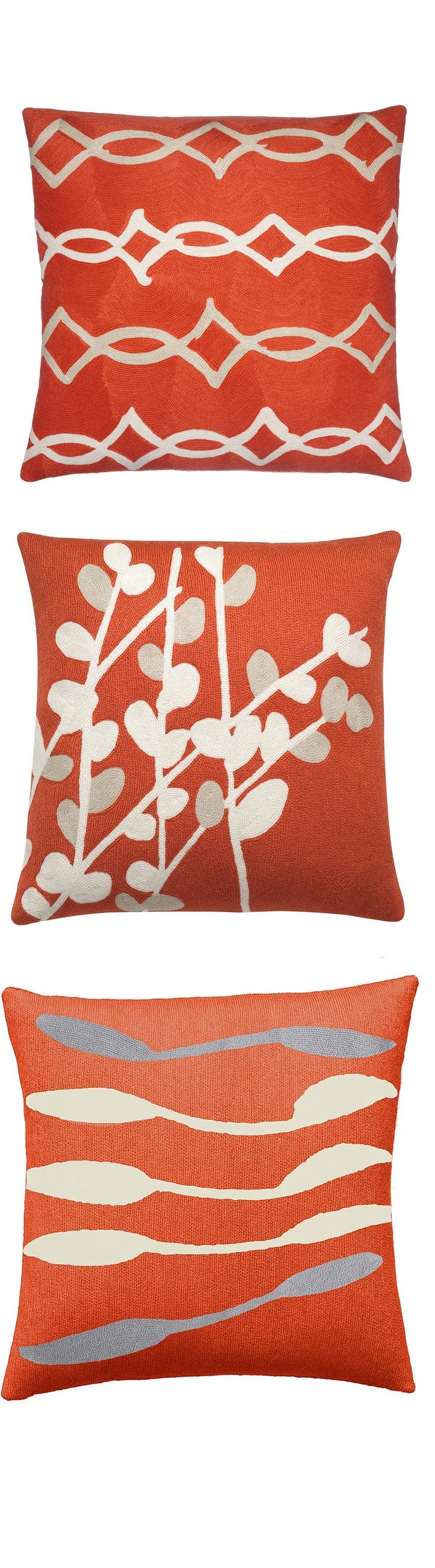 Orange Decorative Pillows Couch : 9 best images about Orange Pillows on Pinterest Sofa pillows, Modern and Throw pillows