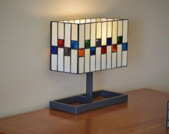 Modern Stained Glass Lamp